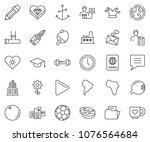 thin line icon set   time... | Shutterstock .eps vector #1076564684