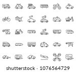 thin line icon set   home... | Shutterstock .eps vector #1076564729
