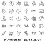 thin line icon set   fly ticket ... | Shutterstock .eps vector #1076568794