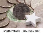 a quarter of kentucky  quarters ...   Shutterstock . vector #1076569400