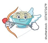 cupid rice bowl character... | Shutterstock .eps vector #1076572679