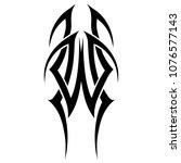tribal tattoo vector design... | Shutterstock .eps vector #1076577143
