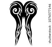 tribal pattern tattoo vector... | Shutterstock .eps vector #1076577146