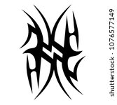 tribal tattoos pattern art deco ... | Shutterstock .eps vector #1076577149