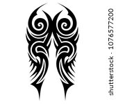 tribal pattern tattoo vector... | Shutterstock .eps vector #1076577200