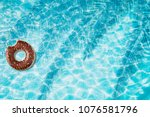 donut pool float  ring floating ... | Shutterstock . vector #1076581796