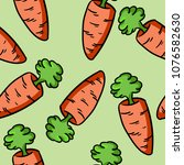 colorful carrot doodle pattern | Shutterstock .eps vector #1076582630