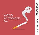 world no tobacco day. cigarette ...   Shutterstock .eps vector #1076589068