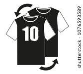 line art black and white soccer ... | Shutterstock .eps vector #1076593589