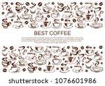 coffeehouse poster of coffee... | Shutterstock .eps vector #1076601986