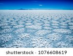 salar de uyuni surface with...   Shutterstock . vector #1076608619