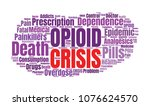 opioid crisis word cloud... | Shutterstock . vector #1076624570