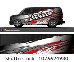 cargo van graphic vector.... | Shutterstock .eps vector #1076624930