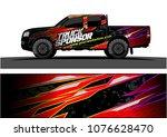 pickup truck graphic vector....   Shutterstock .eps vector #1076628470