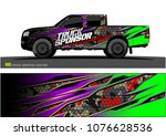 pickup truck graphic vector.... | Shutterstock .eps vector #1076628536