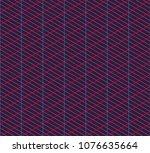 isometric grid. vector seamless ... | Shutterstock .eps vector #1076635664