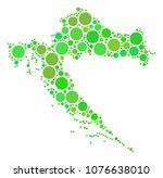 croatia map collage of random... | Shutterstock .eps vector #1076638010
