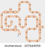 pipes and drop | Shutterstock .eps vector #107664050