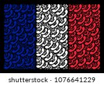 french national flag collage... | Shutterstock .eps vector #1076641229