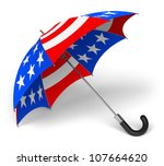 Colorful Umbrella With Us...