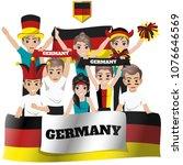 set of soccer   football... | Shutterstock .eps vector #1076646569