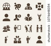 people filled vector icon set... | Shutterstock .eps vector #1076648354