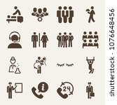 people filled vector icon set...   Shutterstock .eps vector #1076648456