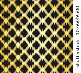 ethnic black and gold zig zag... | Shutterstock .eps vector #1076649500