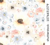 seamless floral pattern with... | Shutterstock .eps vector #1076651579