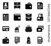 flat vector icon set   hand... | Shutterstock .eps vector #1076662346