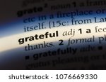 grateful grateful concept. | Shutterstock . vector #1076669330