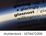 Small photo of glasnost glasnost concept.