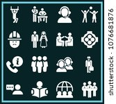 set of 16 people filled icons...   Shutterstock .eps vector #1076681876