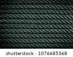 nylon rope texture background | Shutterstock . vector #1076685368