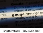 Small photo of gouge gouge concept.