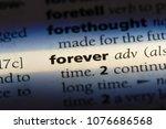 forever forever concept. | Shutterstock . vector #1076686568
