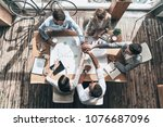 success   top view of young... | Shutterstock . vector #1076687096