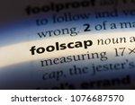 Small photo of foolscap foolscap concept.