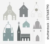 Churches vector - stock vector