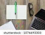 a empty books and computers... | Shutterstock . vector #1076693303