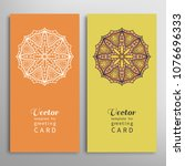 cards or invitations set with... | Shutterstock .eps vector #1076696333