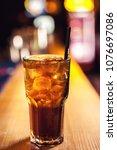 close up long island cocktail... | Shutterstock . vector #1076697086