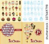ice cream background | Shutterstock .eps vector #107669798