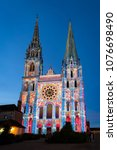 chartres  france   may 21  2017 ... | Shutterstock . vector #1076698490