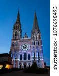 chartres  france   may 21  2017 ... | Shutterstock . vector #1076698493