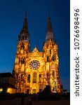 chartres  france   may 21  2017 ... | Shutterstock . vector #1076698496