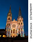 chartres  france   may 21  2017 ... | Shutterstock . vector #1076698499