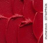 red matte texture of lip gloss...   Shutterstock . vector #1076699636