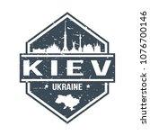 kiev ukraine travel stamp icon...   Shutterstock .eps vector #1076700146