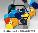 3d hexagon geometric... | Shutterstock .eps vector #1076704913